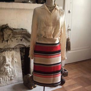 3 For $20 Roz & Ali Striped Stretch Skirt M